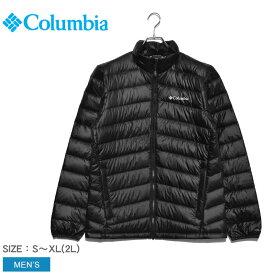 COLUMBIA コロンビア ブラック ダウンジャケット カミアックダウンジャケット KAMIAK DOWN JACKET WE1515 メンズ キャンプ フェス アウター タウンユース アウトドア シンプル カジュアル トレッキング 普段使い 防風 防寒 上着 黒 定番 軽量