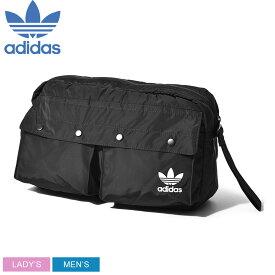 【ADIDAS ORIGINALS】 アディダス オリジナルス ボディバッグ メンズ レディース FUNNY PACK L DV0210 鞄 ななめ掛け ブランド アウトドア ロゴ フェス 黒 シンプル カジュアル