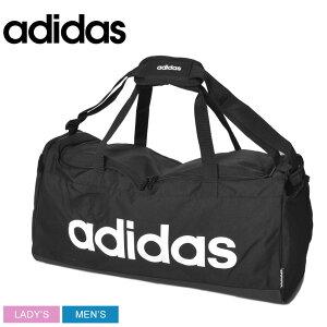 アディダス ボストンバッグ メンズ レディース ADIDAS リニアロゴ ダッフル M バッグ カバン ブランド シンプル 鞄 旅行 大容量 スポーツ ジム カジュアル スポーティ 人気 アウトドア レジャー