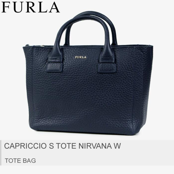 送料無料 FURLA フルラ トートバッグ ダークブルーカプリッチョ S CAPRICCIO S TOTE NIRVANA W 920216 レディース