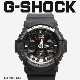 【お取り寄せ商品】 G-SHOCK ジーショック CASIO カシオ 小物 腕時計 ブラック GA-200 GA-200-1AJF メンズ 【メーカー正規保証1年】