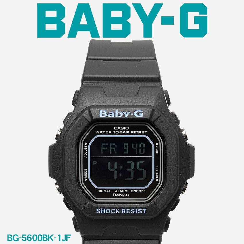 【お取り寄せ商品】 送料無料 G-SHOCK ジーショック BABY-G ベビージー CASIO カシオ 腕時計 ブラック キャンディーカラーズ CANDY COLORS BG-5600BK-1JF レディース 【メーカー正規保証1年】