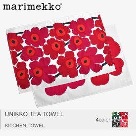 【決算セール開催中】【メール便可】 MARIMEKKO マリメッコ キッチンタオル 全4色 ウニッコ ティー タオル UNIKKO TEA TOWEL 66943 160 131 030 001