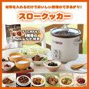 スロークッカー グリル鍋 レシピ付 3.0 L TWINBIRD ツインバード EP-4717BR ブラウン コトコト煮込んで美味しさを引き…