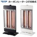 簡単操作 からだの芯まで温まる遠赤外線 TEKNOS(テクノス) 首振りカーボンヒーター 暖房 電気ストーブ