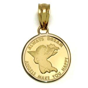 K24 エンジェルゴールド インゴット ペンダント 純金コイン スイスパンプ社製 K24 純金エンジェル ペンダント トップ2.5g 【代引不可】【カード不可】