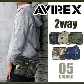 アヴィレックス AVIREX ウエストバッグ EAGLE アビレックス イーグル ミリタリー ブランド ショルダーバッグ ウエストポーチ ヒップバッグ ヒップバック 2way メンズ レディース AVX342L