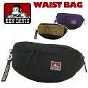 ウエストバッグ BEN DAVIS ベンデイビス シティ ウエスト バッグ CITY WAIST BAG ウエストバッグ ウエストポーチ バッグ かばん メンズ 男性 男の子 男子 シンプル 黒 ブラック BDW-8009