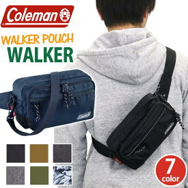 Coleman コールマン WALKER POUCH ウォーカー ポーチ 正規品 ウォーキングポーチ ウエストポーチ ボディバッグ メンズ レディース 男女兼用 ブラック ネイビー 2L