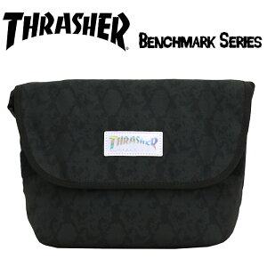 ショルダーバッグ THRASHER スラッシャー 2020 春夏 新作 メンズ ショルダー ホログラム 男性 男の子 男子 ななめ掛け フラップ かぶせ ブラック 黒 バッグ かばん Benchmark 人気 ブランド かっこい
