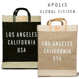 APOLIS ジュート トートバッグ 大きめ Los Angels MARKET BAG 買い物袋 エコバッグ ジュート エコバック【レ15】【あす楽対応】