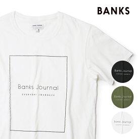 BANKS バンクス ロゴ Tシャツ BANKS JOURNAL 半袖 定番 メンズ プリントTシャツ