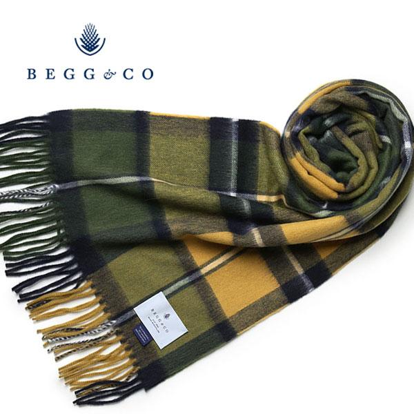 Begg&Co ストール ウールxアンゴラ チェック ベグアンドコー ベグ モヘア マフラー レディース スコットランド製 【レ1000】【送料無料】【あす楽対応】