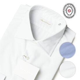 ボルゾネッラ ドレス シャツ ホワイト ストレッチ セミワイドカラー 白シャツ Alessandre Bolzonella 細身 イタリア製 37/38/39/40/41/42 BOLZONELLA メンズ 【送料無料】 【レ15】【あす楽対応】