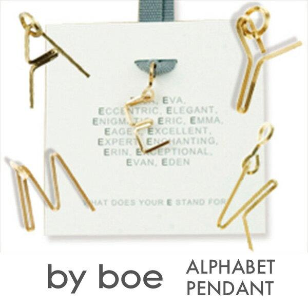 【エントリーでポイント5倍】BY BOE バイボー イニシャル ペンダント ゴールド アルファベット ALFABET PENDANT レディース