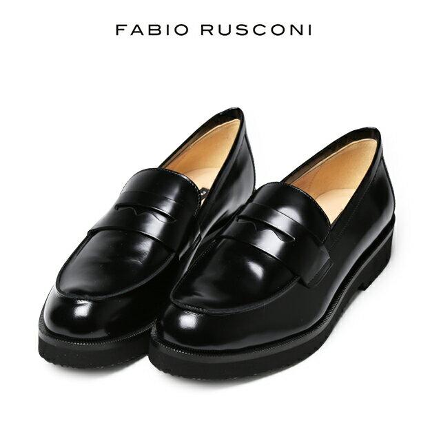 【エントリーでポイント4倍】ファビオルスコーニ ローファー レディース イタリア製 FABIO RUSCONI ファビオ ルスコーニ 靴 革靴 オジ靴 パンプス フラット 【送料無料】 小さいサイズ 大きいサイズ【あす楽対応】