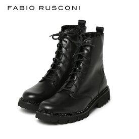 ファビオルスコーニ ブーツ エンジニアブーツ 8ホール イタリア製 FABIO RUSCONI F-5586 20AW 新作 ファビオ ルスコーニ 厚底 革靴 レディース ショートブーツ 【送料無料】【あす楽対応】【レ15】