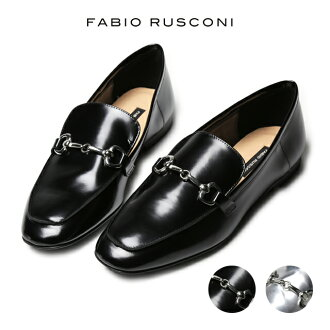 FABIO RUSCONI ファビオルスコーニ shoes leather shoes pumps made in lady's hose bit uncle shoes men like Italy with ファビオルスコーニローファー metal fittings
