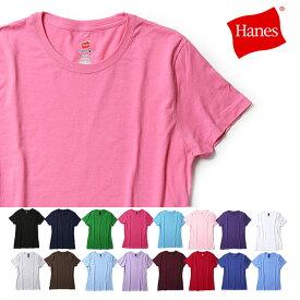 【マラソンポイント5倍】ヘインズ Tシャツ 半袖 クルーネック レディース ナノTシャツ Hanes 【レ15】