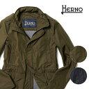 【5%OFFクーポンDAY】ヘルノ フィールドジャケット ブルゾン M-65 スタンドカラー フード付き 20SS 新作 ポリエステル ミリタリー スプリングコート HERNO FI0061U メンズ