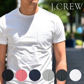 J.CREW メンズ ポケット Tシャツ クルーネック 半袖 春夏 ジェークルー Jクルー ジェイクルーJCREW 【レ15】