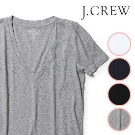 【ポイント10倍】J.CREW Tシャツ Vネック 半袖 レディース 無地 ジェークルー Jクルー ジェイクルー JCREW 【レ15】