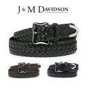 J&M DAVIDSON ベルト 30mm メッシュ レザー メンズ J&Mデヴィッドソン ベルト ブラック ブラウン ジェイアンドエムデ…