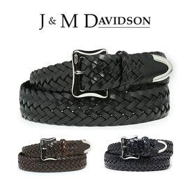 J&M DAVIDSON ベルト 30mm メッシュ レザー メンズ J&Mデヴィッドソン ベルト ブラック ブラウン ジェイアンドエムデヴィッドソン ギフト 【送料無料】 【あす楽対応】
