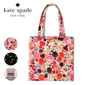 ケイトスペード トートバッグ キャンバス 買い物袋 レジバッグ ショッピングトート かわいい おしゃれ ブランド KATE SPADE