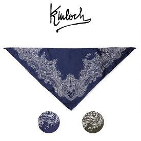 KINLOCH ネッカチーフ シルク 三角 キンロック チーフ スカーフ イタリア製 メンズ 【送料無料】