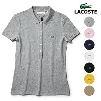 f41c19cfdaace VIAJERO HONTEN  LACOSTE Lacoste polo shirt Lady s short sleeves fawn POLO  polo constant seller plain fabric PF7845   Rakuten Global Market