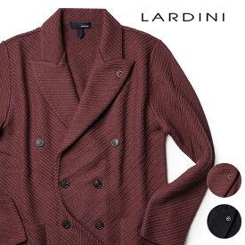 ラルディーニ ニットジャケット ダブルブレスト ウール 100% 19AW 秋冬 ジャケット イタリア製 メンズ ニット LARDINI 【送料無料】【あす楽対応】