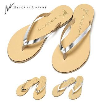 尼古拉斯 · LAINAS 皮涼鞋拖鞋沙灘涼鞋拖鞋翻轉翻牌尼古拉斯 · 利納女士簡單在希臘可愛淋浴涼鞋