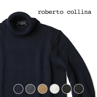 SALE Roberto Collina / middle gauge turtleneck knit sweater / 2013 / RU02003 navy / khaki / beige 46/48/50 in the fall and winter