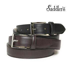 サドラーズ ベルト 3cm カーフ フォーマル シンプル スクエアバックル SG01 Saddler's メンズ 【あす楽対応】