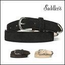 サドラーズ スエード ベルト カーフ シンプルバックル SG02 プンターレ Saddler's メンズ ブラウン ブラック 【送料…