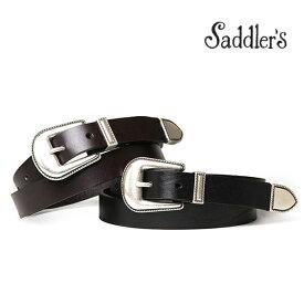 サドラーズ ウエスタン ベルト 2.5cm カーフ シンプル バックル G116 プンターレ Saddler's メンズ 【あす楽対応】