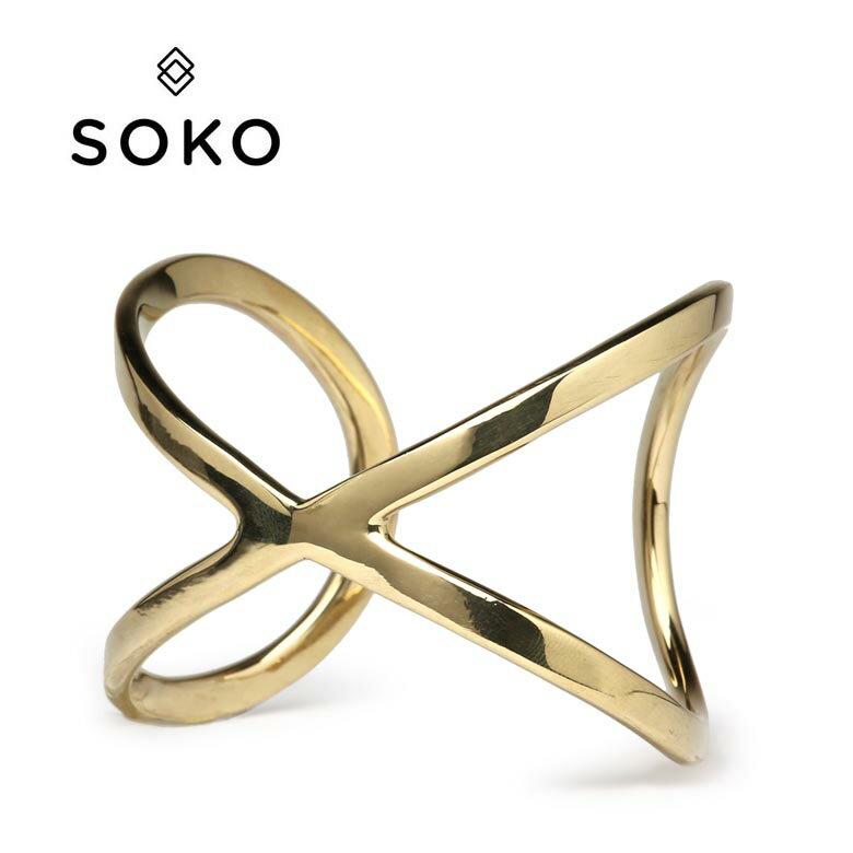 【10%offクーポン】SOKO ソコ ブレスレット バングル ゴールド infinity cuff インフィニティ レディース 【あす楽対応】