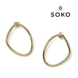 SOKO ソコ ピアス ゴールド petite sabi インフィニティ レディース ケニア製 【レ15】