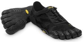 ビブラム Vibram ファイブフィンガーズ レディース KSO EVO Black / ブラック 14W0701 《五本指 シューズ FiveFingers ベアフット トレーニング インドア フィットネス ランニング ウォーキング 靴》