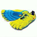 Vibram FiveFingers ビブラムファイブフィンガーズ メンズ V-Run Yellow-Blue-Teal / イエロー-ブルー-ティール 16M...