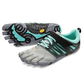 【お買い物マラソン限定30%OFF】ビブラム Vibram ファイブフィンガーズ レディース V-Train Grey - Black - Aqua / グレイ - ブラック - アクア 18W6601 《五本指 シューズ fivefingers ベアフット トレーニング ランニング 靴》