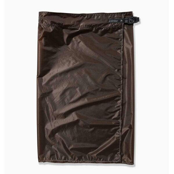 【あす楽対応 平日14:00まで】 アンドワンダー and wander Womens sil skirt khaki 0サイズ [シルスカート][レディース]