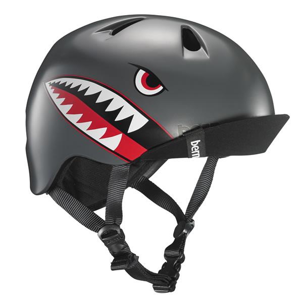 バーン Bern NINO Satin Grey Flying Tiger [ヘルメット][子供用][キッズ][ニーノ][自転車][バイク][スポーツ][8/24 13:59まで ポイント10倍]
