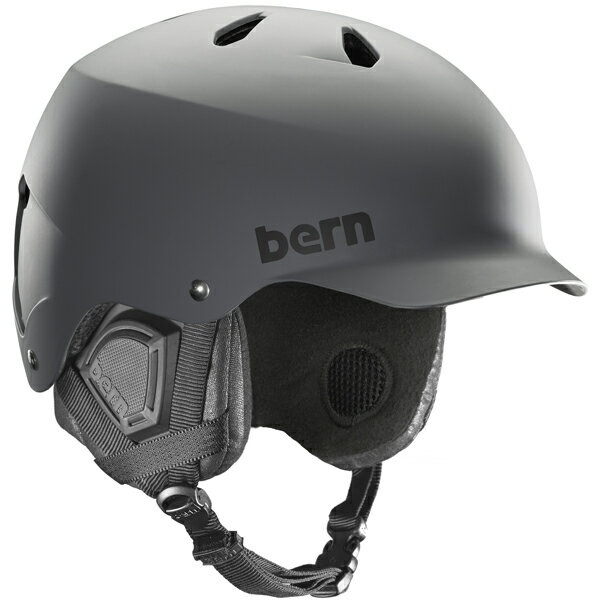 バーン Bern [Winter Model] WATTS Matte Grey [ヘルメット][自転車][メンズ][1/26 13:59まで ポイント10倍]
