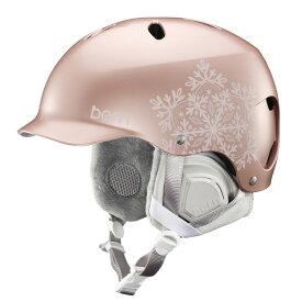 バーン Bern [Winter Model] LENOX Satin Rose Gold Snowflake [ヘルメット][自転車][レディース][女性用]