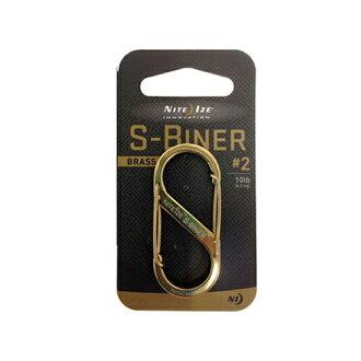 到要点10倍的3/15 11:59骑士眼睛NITEIZE S-Biner#2 Brass[karabina][S bina]