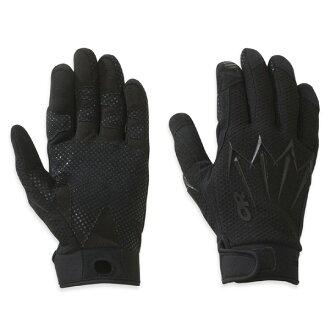 到要点10倍的3/15 11:59户外研究OUTDOOR RESEARCH Halberd Sensor Gloves Black[haribado][感应器][手套][手套][战斗手套][皮革]