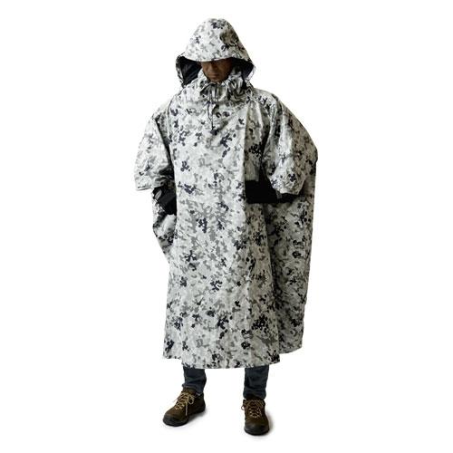 プロモンテ PUROMONTE アンアクター(迷彩ポンチョ) ホワイトカモ [ポンチョ][雨具][レインウェア][タープ][雨よけ][GKP02][11/23 9:59まで ポイント10倍]