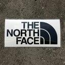 【あす楽対応 平日13:00まで】 ノースフェイス THE NORTH FACE TNF Cutting Sticker ブラック (K) NN88106